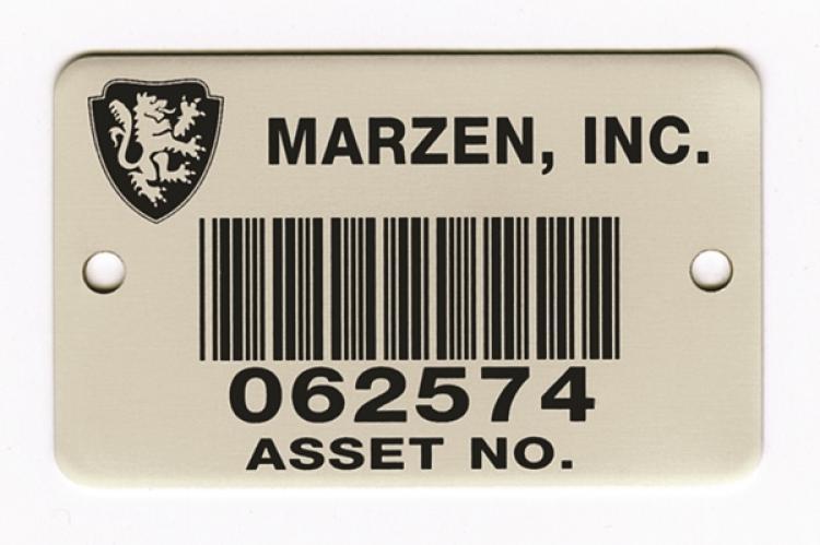 Metal Barcode Nameplates