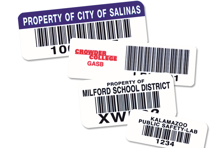 Premium Polyester School Asset Labels